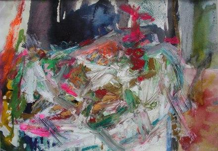Form, 2012, Oil-pastel, 32″ x 24″