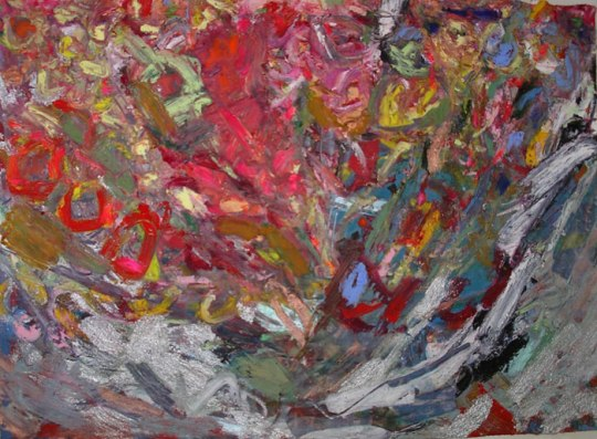 Riot, 2008, oil on canvas, 16″ x 20″