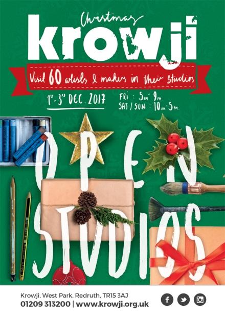 Krowji Christmas Open Studios 2017 Flyer